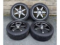 "18"" BMW Alloy wheels tyres 5x120 E90 E91 E92 3 series Z4 VW T5"