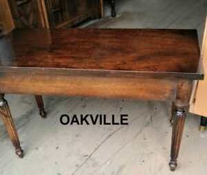 Mahogany Piano Bench Antique Chair Seat Opens Tapered leg Excellent Red Brown Keyboard Stool Oakville Retro Mid-Century