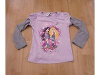 CUTE MOXIE GIRLZ LILAC & GREY TOP AGE 5-6