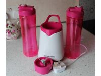 Pink and White Ambiano Smoothie Maker.