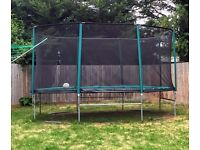 10ft x 15ft Skyhigh Oval Trampoline with Safety Enclosure