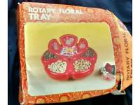 ROTARY FLORAL SNACK TRAY NEW