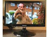 19inch Samsung HD monitor HDMI Flat LED LCD TV Digital freeview television