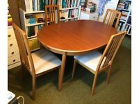 Westminster extending oval dining table and 4 chairs