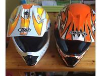 Kids motocross helmets open to offers