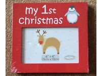 Baby Red Christmas Photo Frame