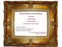 Restoration,renovation old furnitures etc. 15 years of experience.