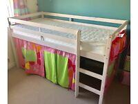 White Wash Pine Mid Sleeper Bed