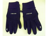 Mens Head Sensatec Thermal Gloves. Black. Size XL