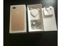 Apple iphone 7 plus 256gb gold unlocked as new conditon