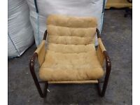 Vintage Retro funky metal framed Chair 1970's great restoration project
