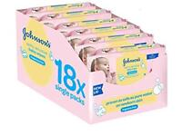 18 packets on johnsons baby wipes