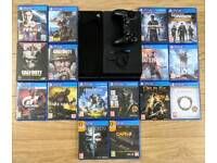 PS4 Slim 500GB, with headset, controller and SIXTEEN AAA games!