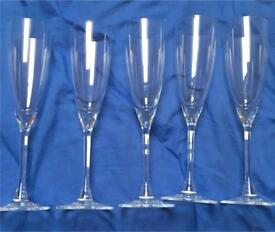 Champagne glasses set of 5 £30
