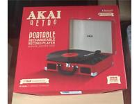 Portable rechargeable record player - Bluetooth connectivity