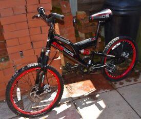 Children's bycicle Octane SO double disk brake bike black