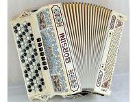 Borsini Nostalgic Accordion - 5 Row Chromatic C-System - Hand Made Reeds - Very Rare Model