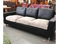** BLACK & GREY 3 SEATER SETTEE, NEVER USED!!! ** CAN DELIVER **