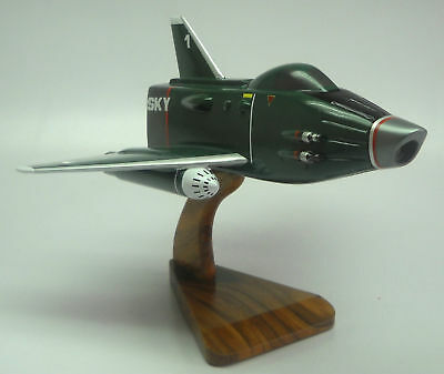 Sky-1 Sky One Anderson UFO Spacecraft Mahogany Kiln Dry Wood Model Large New