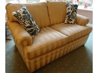 2 Seater Sofa, Regency Style Stripe, Very Good Condition