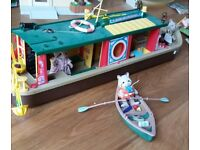 Sylvanian Families Canal Boat and canoe