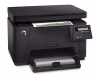 hp color laserjet pro mfp m176n with all colours toner included & extra black toner cartridge