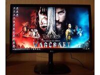 """LG 22"""" IPS Monitor LED Full HD Display (HDMI,DVI,VGA) 1080p , New Gaming Monitor"""