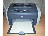HP LaserJet 1012 Mono Laser Printer - Toner and Leads