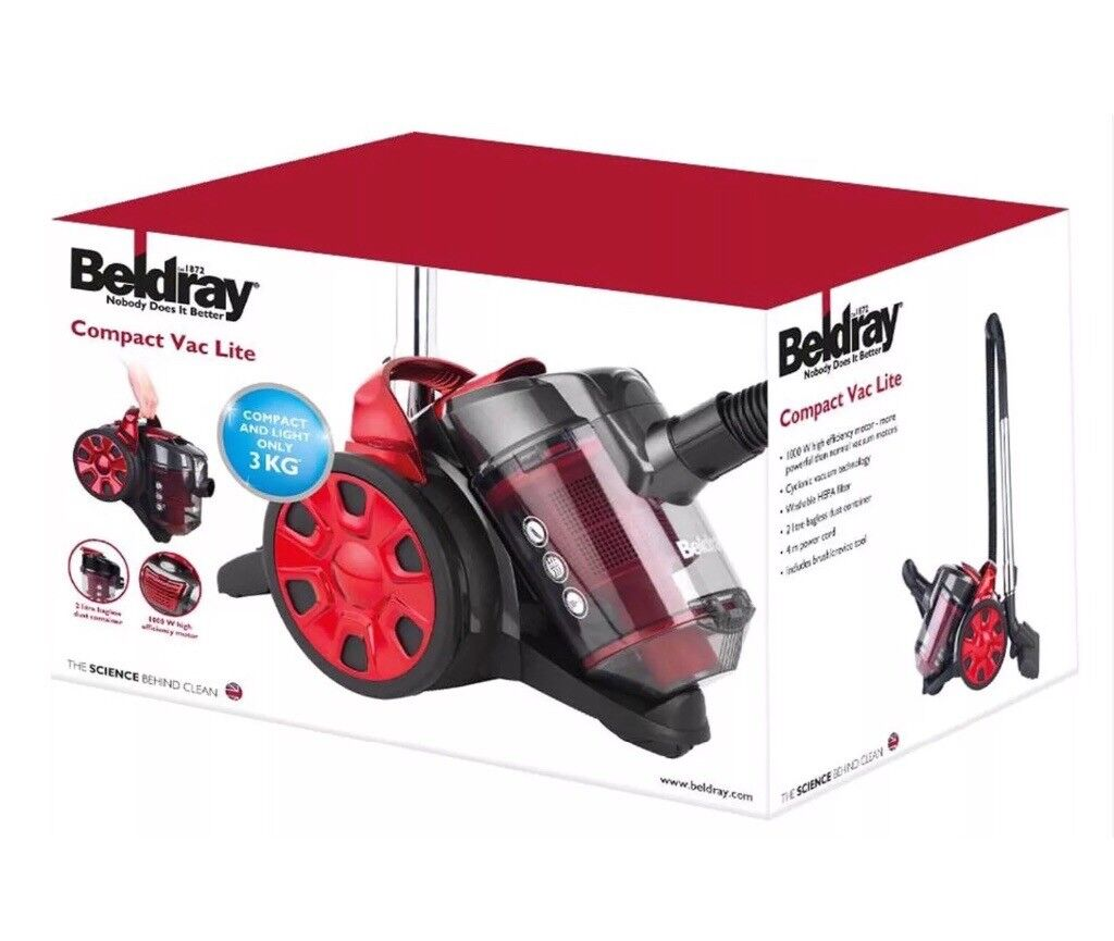 Beldray compact lite vacuum cleaner 1000w bag
