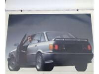 Very rare + collectible! Official German 1987 AUDI Calendar Giant A1 with Quattro, Avant, Estate, 80