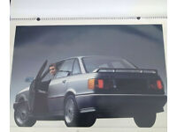 Giant A1 Official 1987 AUDI Calendar featuring Quattro, 80 and sexy models! Stunning, rare, complete