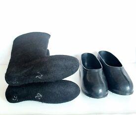 Very warm winter boots , 100% coarse wool
