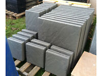 7m2 Riven Charcoal paving slabs