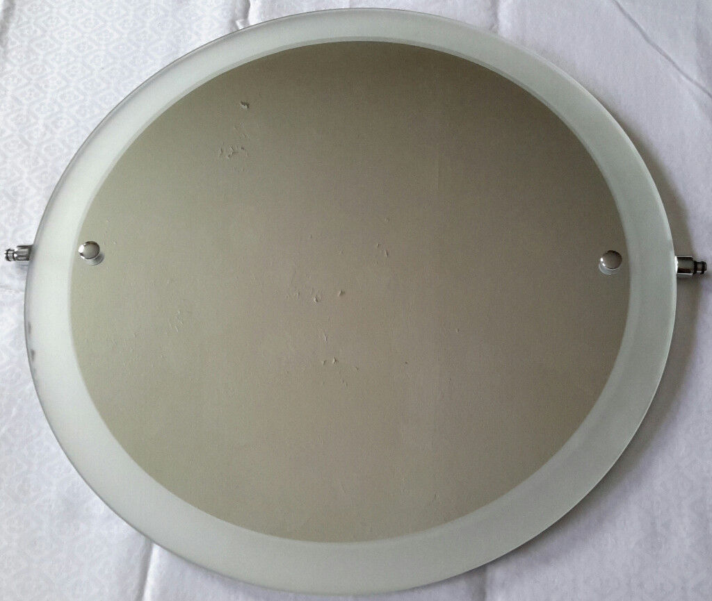 BEAUTIFUL Round GLASS Mirror! £10! Upcycle! Dining Living Bedroom Bathroom 45 x 45 x 0.5 CM 2.3 KG