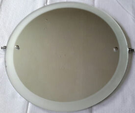 ROUND GLASS Mirror! Beautiful! £8! Dining Living Bedroom Bathroom Upcycle! 45 x 45 x 0.5 CM 2.3 KG