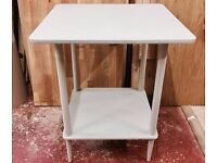 Shabby Chic Light Grey Wooden Annie Sloan Painted Bedside Table.