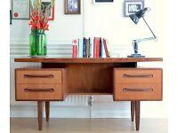 "Unique Vintage G Plan ""Fresco"" floating top teak desk. Delivery. Modern / midcentury / Danish style"