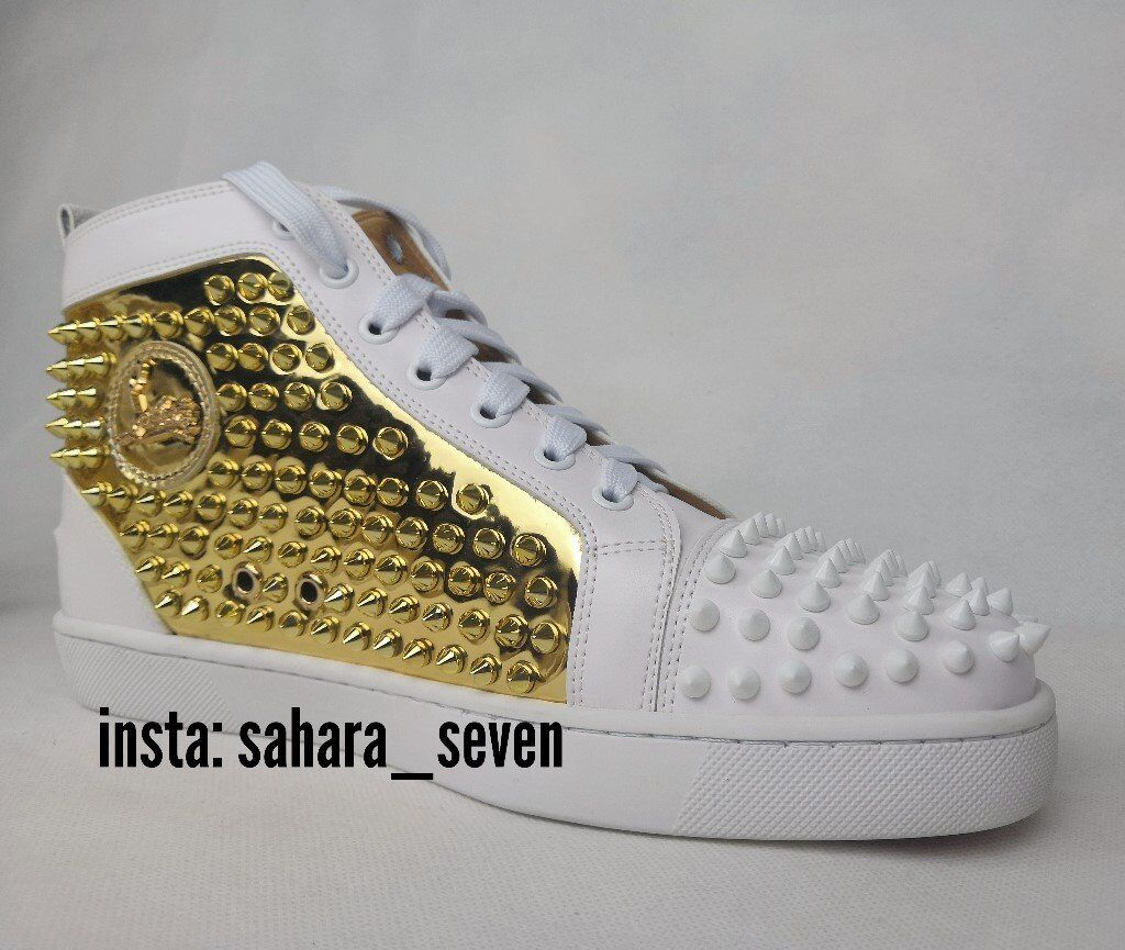 wholesale dealer 65bec c64a5 Mens Christian Louboutin Spikes White and Gold 2018 Edition £120 Shoes  Spike Boots Red Sole | in Hammersmith, London | Gumtree