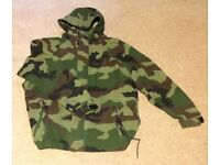 ADDICT Camouflage waterproof jacket. Size L. 3 Fly Shell Jacket. 100% Breathable.