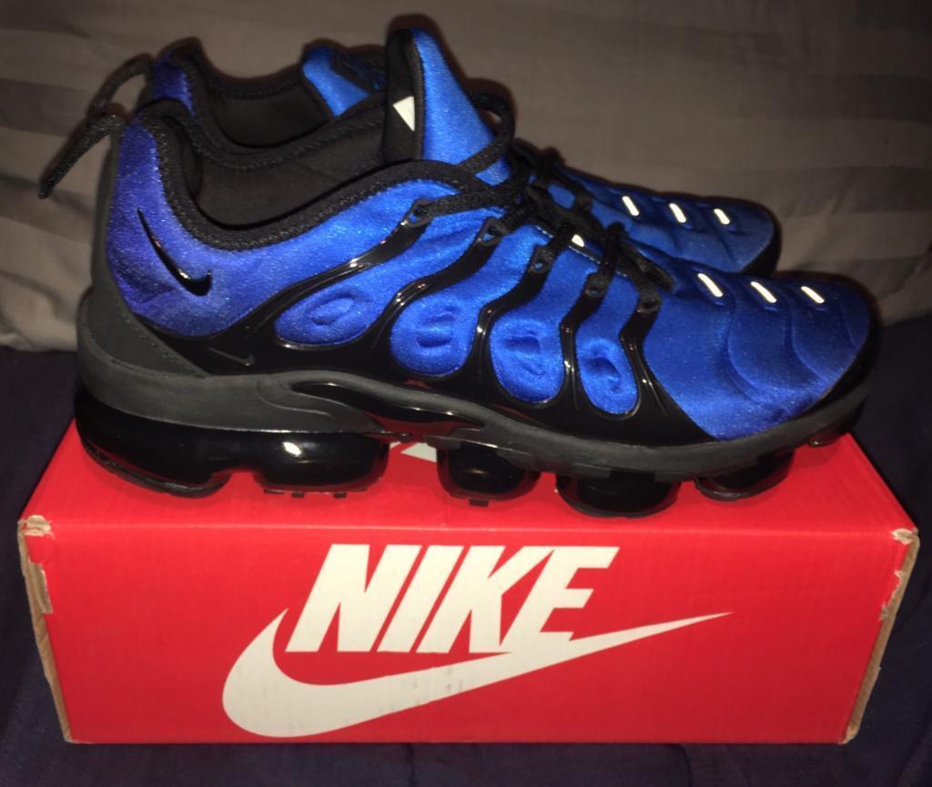 90ec36ee480d Nike Air Vapormax TN Plus Tuned Trainers Navy Sky Blue Black Men s UK 10  BNIB RARE