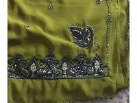 Topaz Green Saree women's size 10