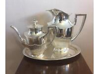 A Beautiful And Unique 925 Sterling Silver Coffee Set.