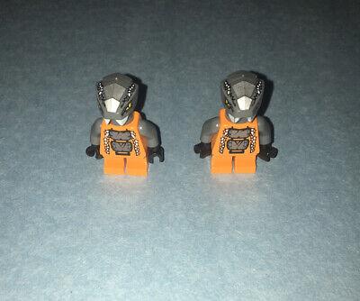 Lot Of 2 LEGO CHOKUN MINIFIGURES NINJAGO SERPENTINE SNAKE CREATURE FIGURES