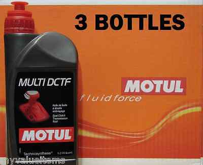3 Motul MULTI DCTF Dual Clutch Transmission Fluid - 1 L Ea. - New - 103910