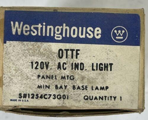 WESTINGHOUSE OTTF 120VAC INDICATOR LIGHT PANEL MTG MIN BAY BASE LAMP 1254C73G01