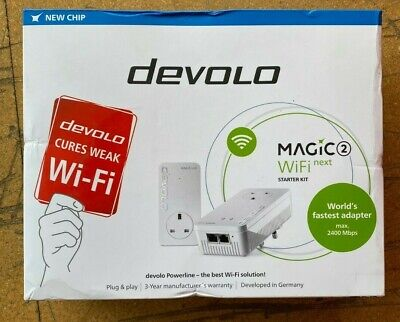 DEVOLO MAGIC 2 WIFI NEXT POWERLINE STARTER KIT 2400MBPS. - NEW BOXED