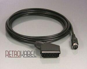 Videokabel TV-Kabel für  Commodore C64 / C128 auf Scart (Y/C, SVIDEO), 3m