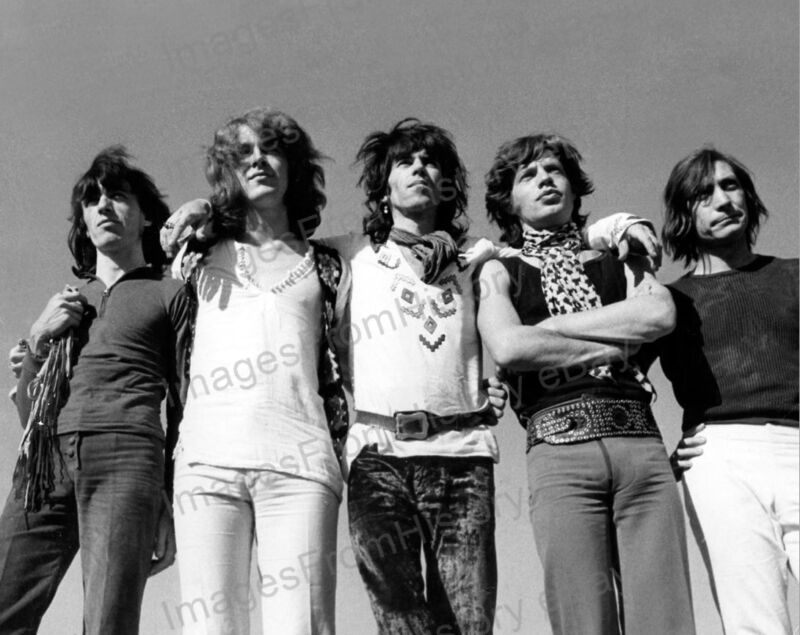 8x10 Print Mick Jagger Keith Richards Mick Taylor The Rolling Stones #RSEA