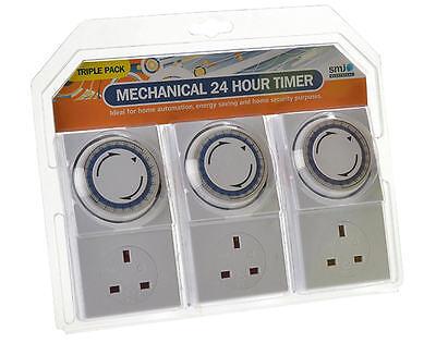 Smj 3 X Netzstecker in 24 Stunde Licht Tag/Nacht Timer Sicherheit Schalter Pack