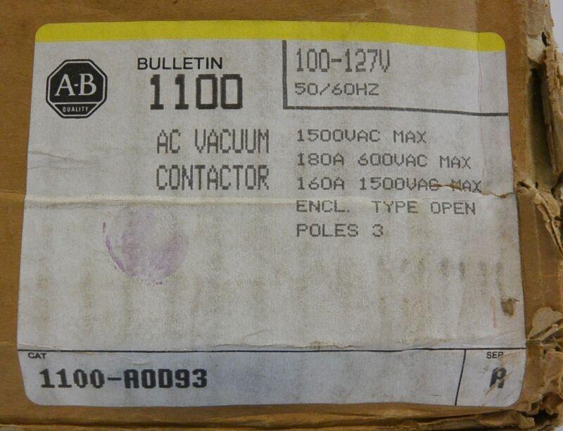 Allen-bradley 1100-aod93 Ser. B  Vacuum Contactor New